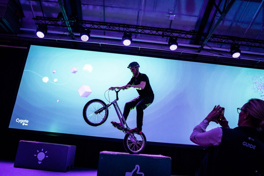 Biketrial show at Cygate Connect2IT